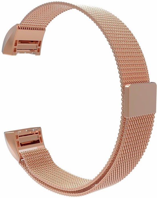 Milanees bandje Roségoud geschikt voor Fitbit Charge 2