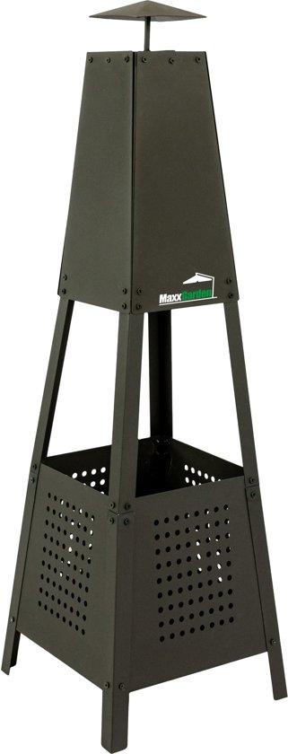 Maxx vuurkorf pyramide metaal - 35 x 35 x 100 cm