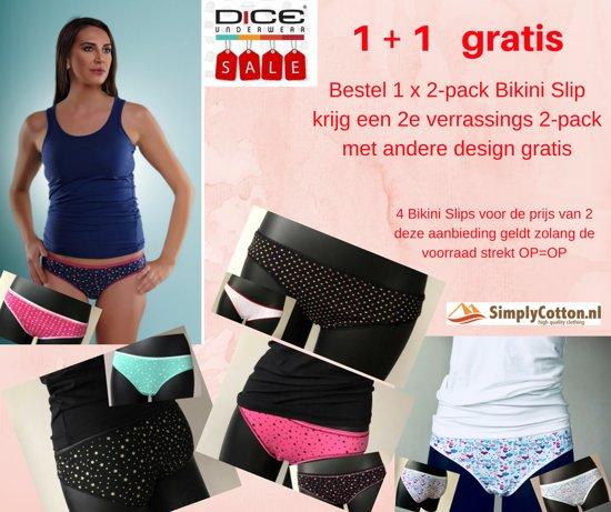 Gratis S2e Bikini pack Hartjes 2 Dames Slip Dice Verrassingspakje D9IEH2