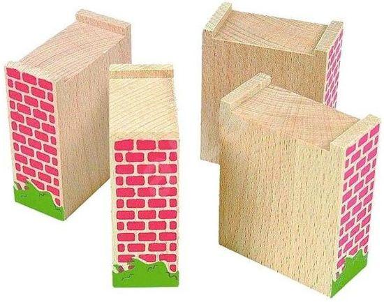 Brug pilaren 4 stuks voor houten treinset - Woody