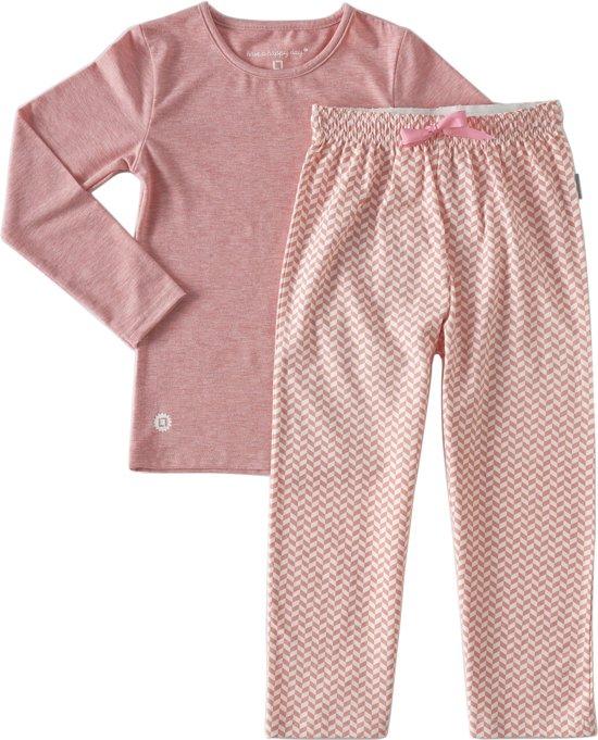 Little Label Meisjes Pyjamaset - roze - Maat 134-140