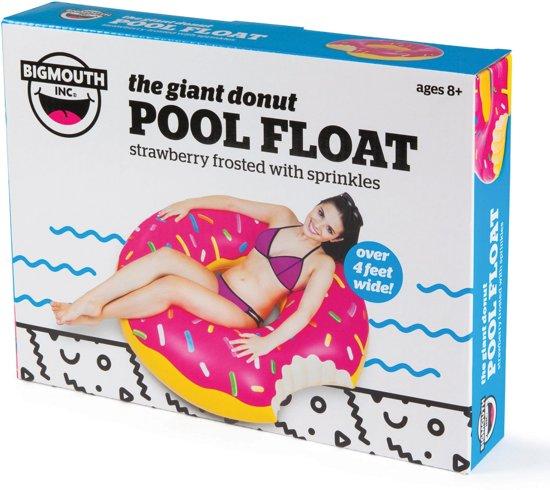 Opblaasbare Roze Donut Zwemband -XXL Opblaasband - Pool Float Ø 1.20 - De originele versie!