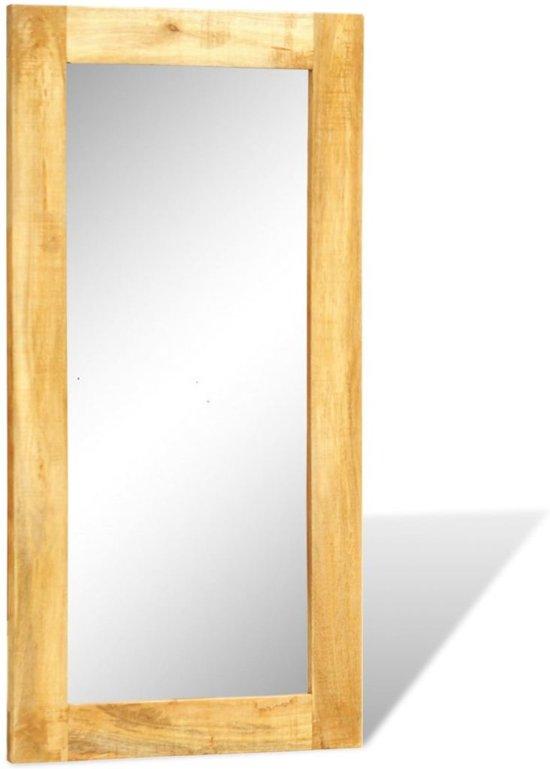 spiegel in massief houten lijst 120 x 60 cm. Black Bedroom Furniture Sets. Home Design Ideas