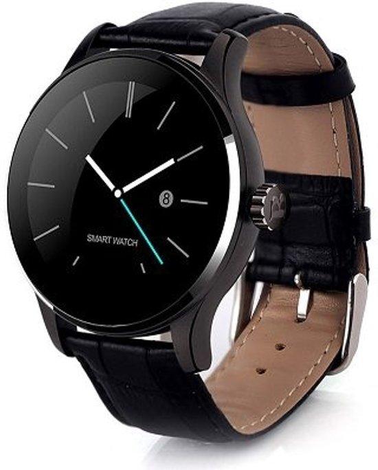 Smartwatch K88H - Zwart - Leer + Losse Screenprotector