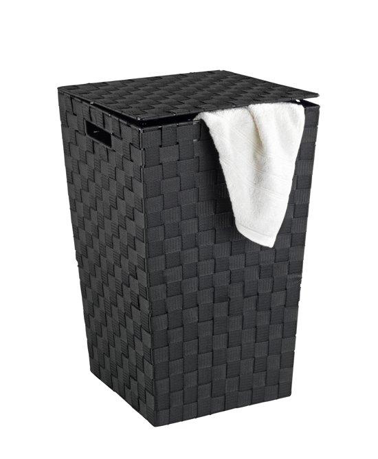 Wasmand zwart vierkant