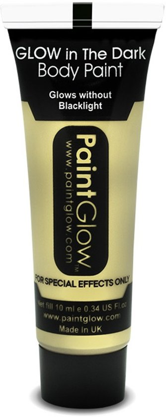 Glow in the Dark Face & Body paint Wit 10 ml