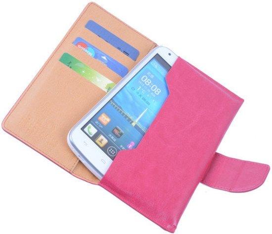 LG G Flex2 Portemonnee Hoesje Roze - Book Case Wallet Cover Hoes