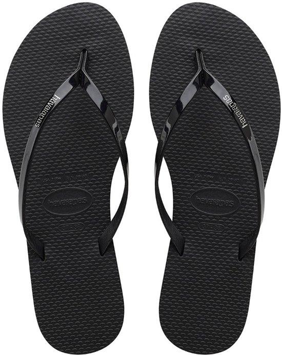 Havaianas You Metallic Slippers - maat 37/38 - Vrouwen - Zwart
