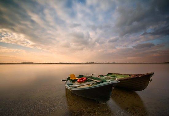 Fotobehang Boats|VEXXXXL - 416cm x 290cm|Premium Non-Woven Vlies 130gsm