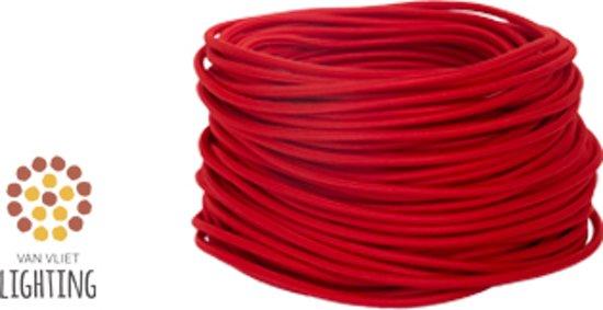 Creatief strijkijzersnoer - Rood snoer - prijs per m - min afname 5 m