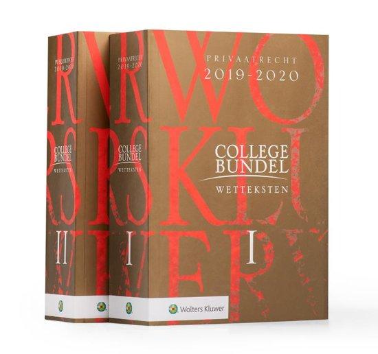 Boek cover Wolters Kluwer Collegebundel 2019-2020 van Henk Kummeling (Paperback)