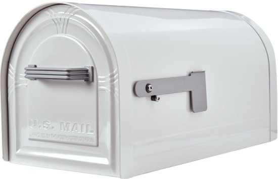 Amerikaanse brievenbus/US Mailbox, MET SLOT, wit