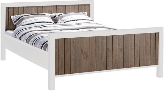 Bed Met Matras En Bodem.Beter Bed Select Bedframe Columbo Met Bodem Potenset En Matras Tweepersoons 180x200cm Bruin