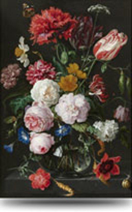 Bekend bol.com | Schilderij Bloemen in Vaas - Rijksmuseum - Glas -extra  #PE37