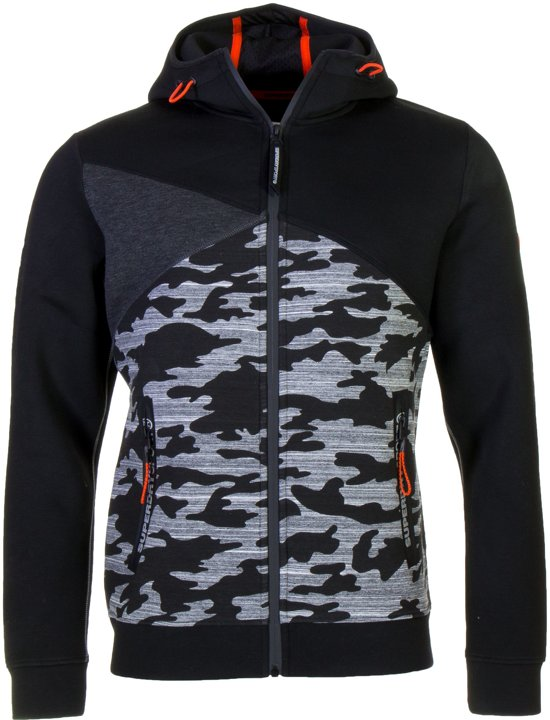 Gym Zwart Tech Mannen SporttruiMaat grijs oranje L Superdry Spliced Heren Ziphood TJc3lF1uK