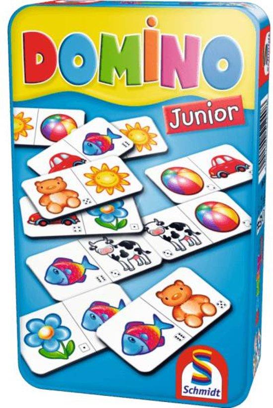 Afbeelding van het spel Domino Junior In Tin Box Pocketeditie