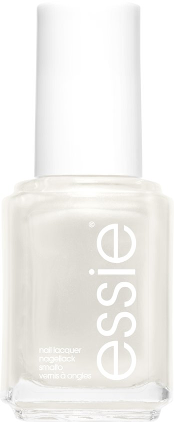 essie pearly white 4 - wit - nagellak