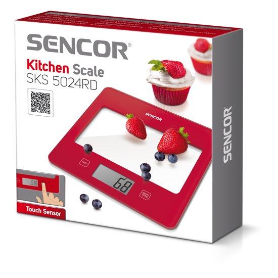 Sencor SKS-5024RD Keukenweegschaal