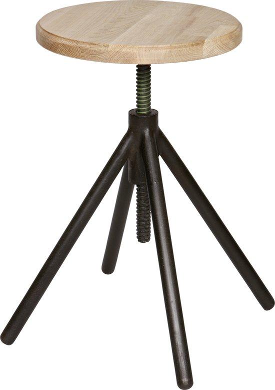 Woood Lily - Kruk - Metaal met hout - Zwart