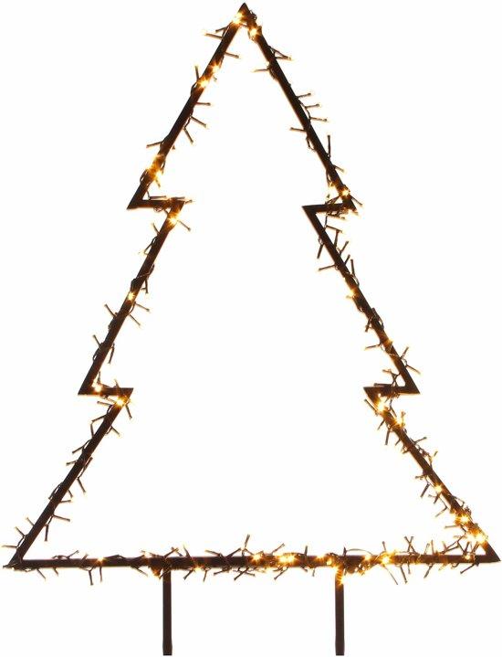 bol.com | Verlichte kerstboom voor in de tuin 75 cm - 175 LED lampjes