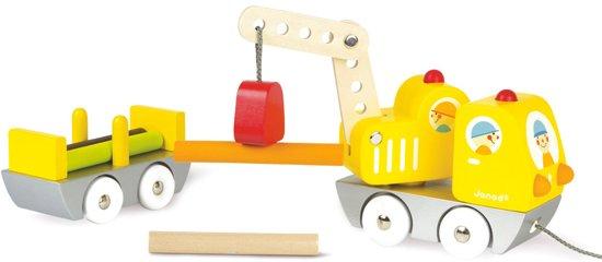 Janod Vrachtwagen - kraanwagen met hout