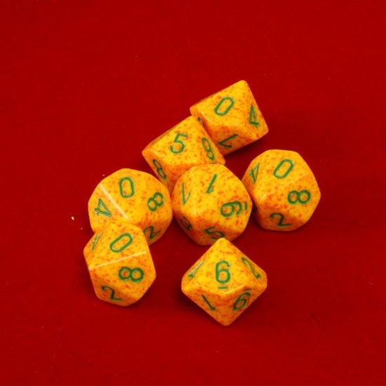 Afbeelding van het spel 10 Vlakken Tienzijdige Dobbelsteen Speckled Lotus 16mm Set van 6 stuks