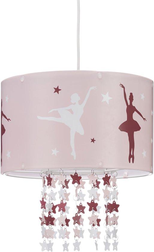 Roze Hanglamp Babykamer.Relaxdays Hanglamp Meisjes Plafondlamp Ballerina Kinderlamp Roze Lamp Kinderkamer