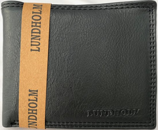 7da2151a29d Lundholm RFID - Portemonnee heren leer Compact model | RFID anti-skim  bescherming | vaderdag