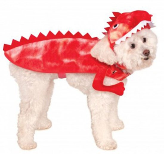 Raptor Dinosaur - Kostuum voor dieren - Maat S