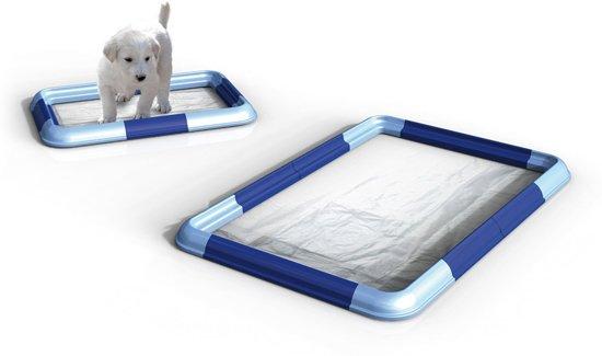 AllinOne puppy training pad holder, hondentoilet, variabel verstelbaar