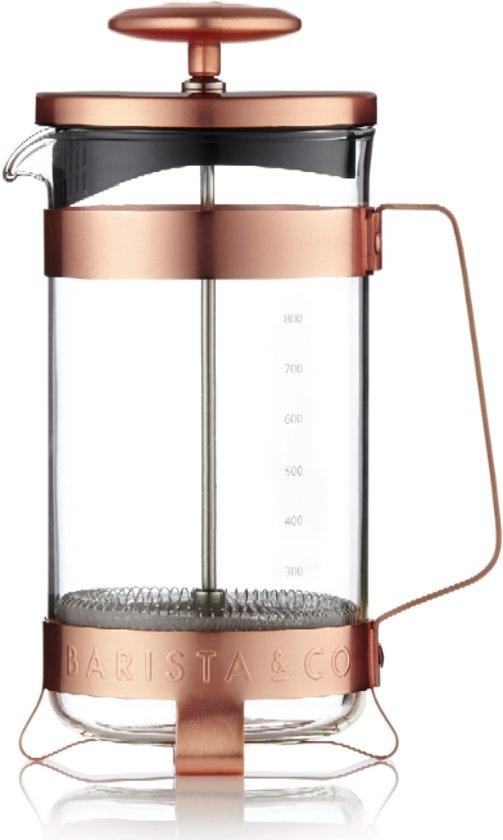 Barista & Co Plunger - voor 8 koppen - Electric Copper