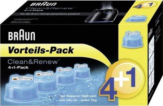 Braun Clean & Renew 4+1 - Reiniging voor scheerapparaat