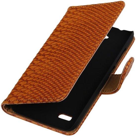 MP Case Bruin Slang Design Huawei Y5 / Y560 Book Wallet Case in Lonneker