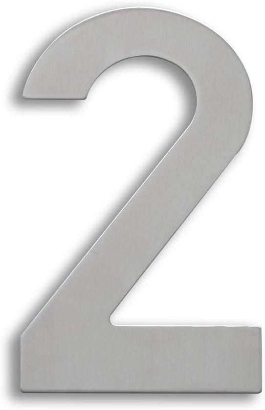 RVS Huisnummer 15cm Nummer 2