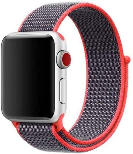Sport loop Apple watch bandje 42mm - Magenta