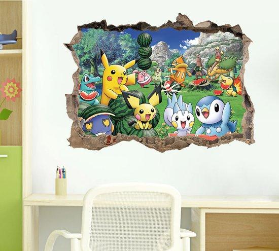 3d Muurdecoratie Kinderkamer.Bol Com Pokemon Muursticker 3d Muurdecoratie Kinderkamer