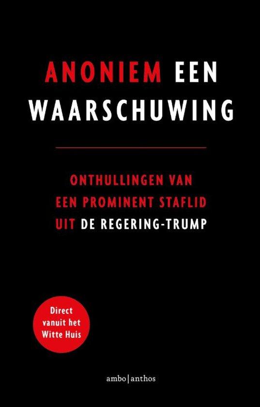 Boek cover Een waarschuwing van Anoniem (Paperback)
