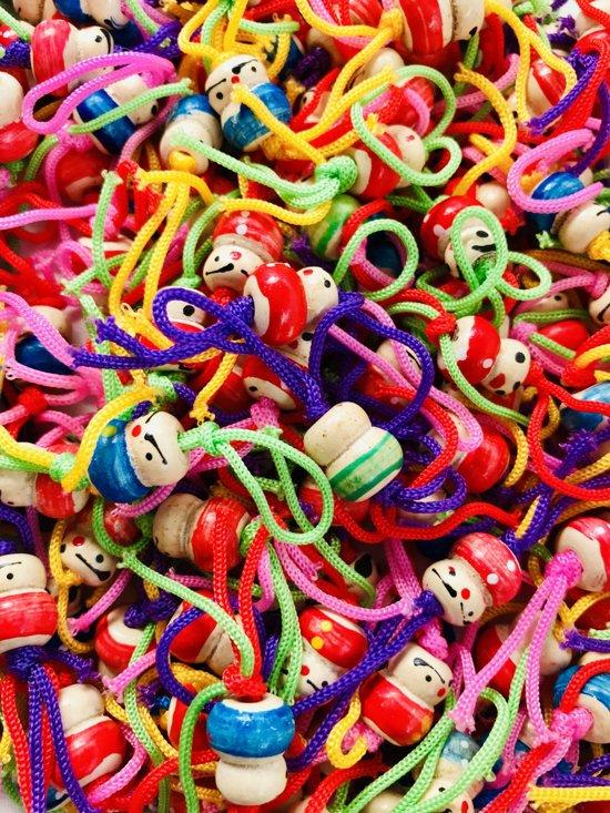 Originele Chinese Gelukspoppetjes hout 24 stuks met 24 stuks rode papieren enveloppen voor veel geluk! uitdeelcadeaus  geluksbrenger
