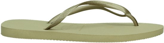 Havaianas Slim Dames Slippers - Sand Grey/Light Golden - Maat 37/38 Brasil, Maat 39/40 Europa