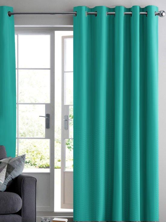 bol.com | Ruben verduisterend gordijn - Turquoise - 150x250 cm ...