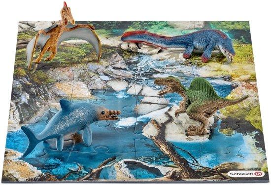 Schleich Dinos 42330 Mini Dinosaurus set met drinkplaats puzzel (24)