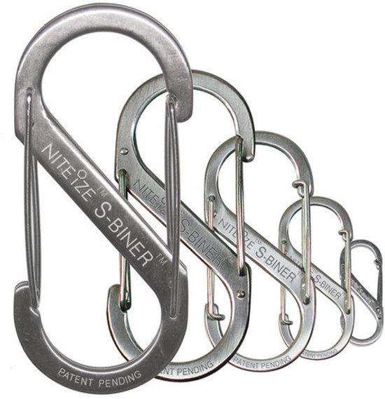 Nite Ize S-Biner #2 roestvrijstaal zilver