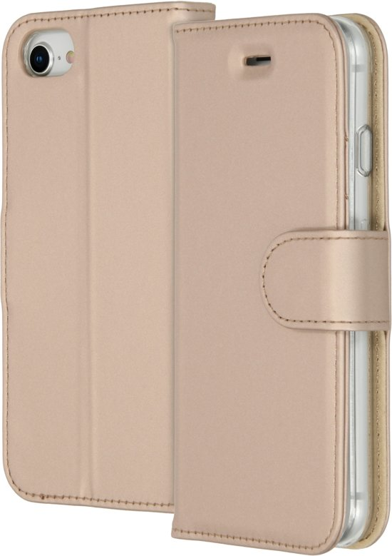 Accezz Wallet Softcase Booktype iPhone 8 / 7 / 6s / 6 hoesje - Goud