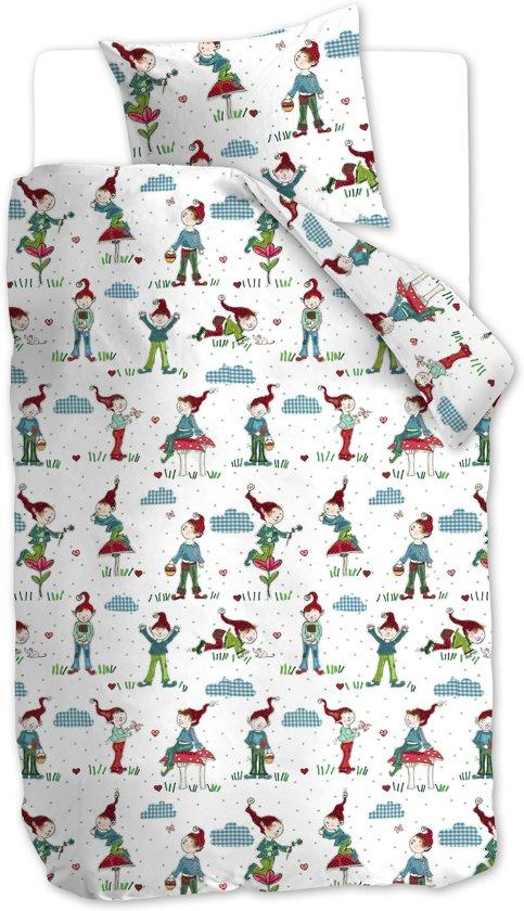 Beddinghouse Kids Gnomes Dekbedovertrek - Eenpersoons - 140x200/220 cm - Blauw