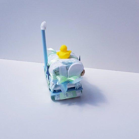 Luiertaart Treintje Jongen | Kraamcadeau | Kraampakket | Baby Cadeau
