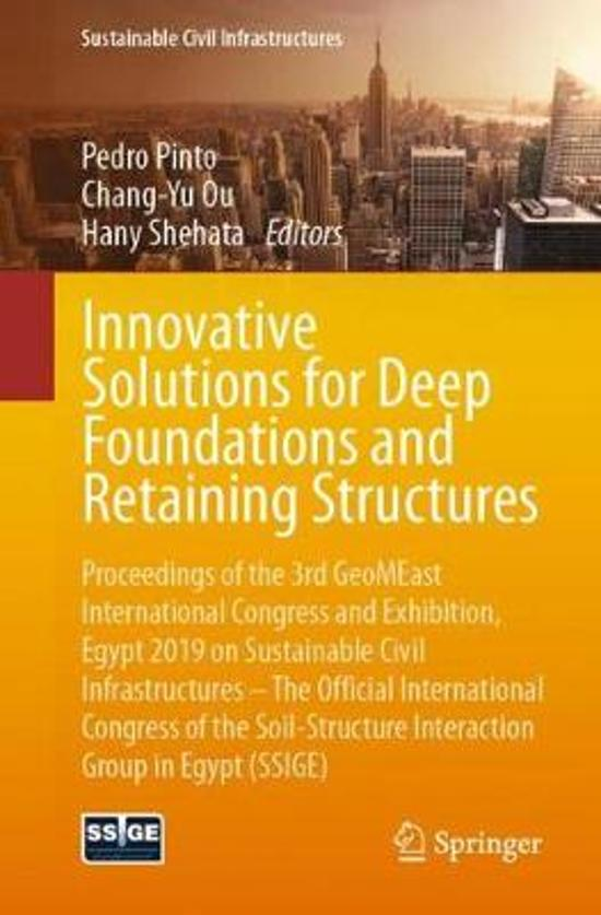 Innovative Solutions for Deep Foundations and Retaining Structures