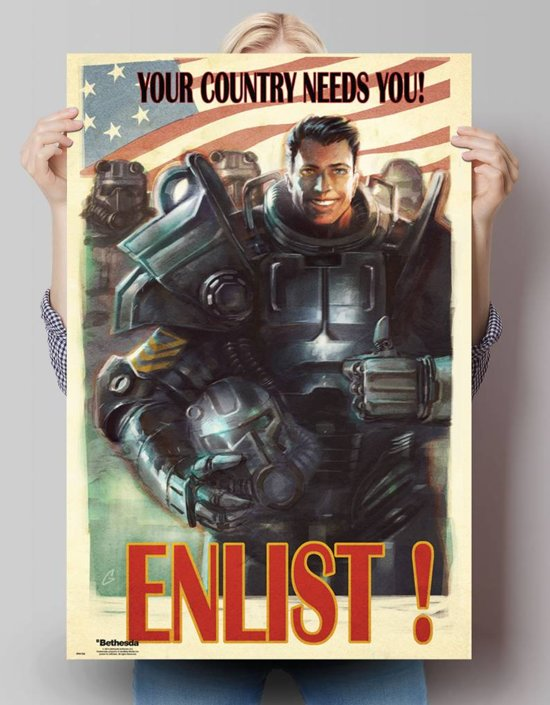 Fallout 4 - enlist  - Poster 61 x 91.5 cm