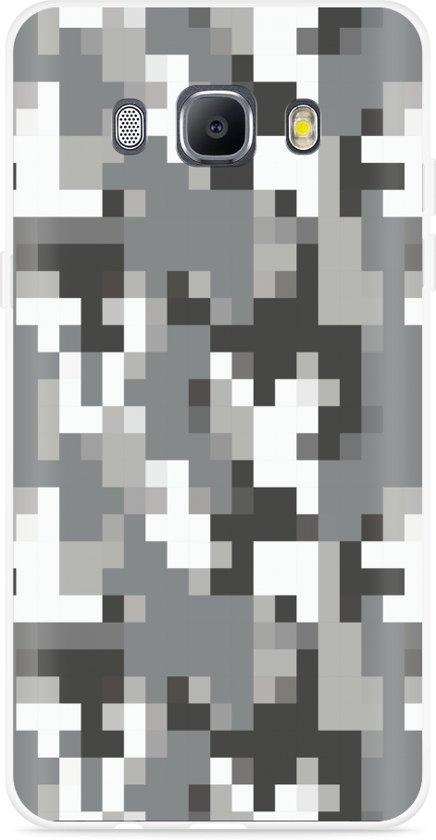 Galaxy J5 2016 Hoesje Pixel Camouflage Grey