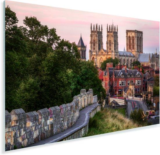 Overzicht van York met in het midden de Kathedraal York Minster Plexiglas 60x40 cm - Foto print op Glas (Plexiglas wanddecoratie)