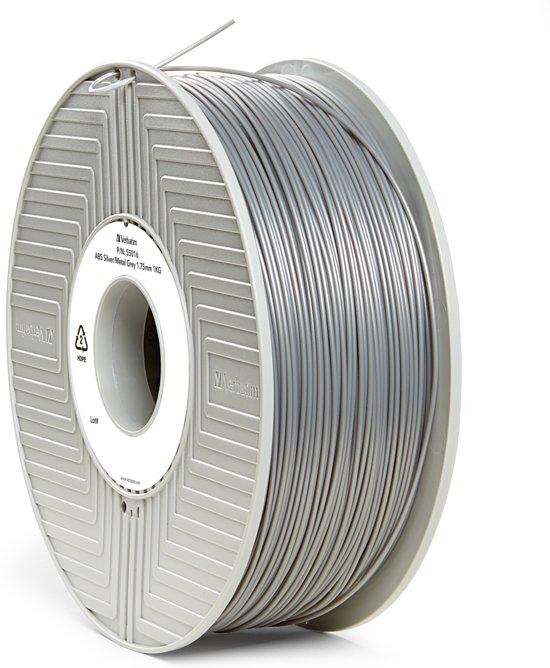 Verbatim 55016 3D Printer Filament ABS 1.75mm 1kg Zilver-Metaal Grijs